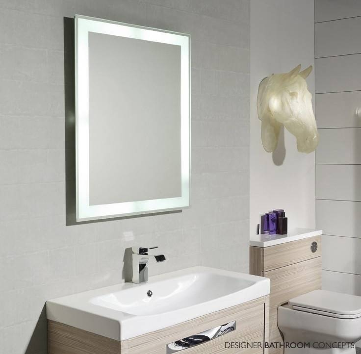 Bathroom Lighting: Mesmerizing Lighted Bathroom Vanity Mirrors Within Lighted Wall Mirrors For Bathrooms (View 5 of 15)