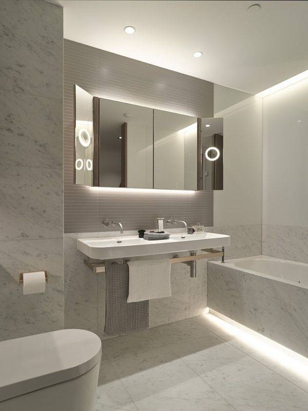 Bathroom Lighting: Mesmerizing Strip Lighting For Bathrooms Ideas Inside Led Strip Lights For Bathroom Mirrors (#7 of 15)
