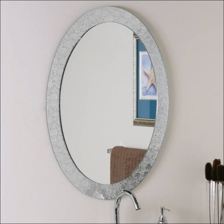Bathroom : Marvelous Oval Wall Mirror Oval Mirror Decorative Intended For Decorative Framed Wall Mirrors (#2 of 15)