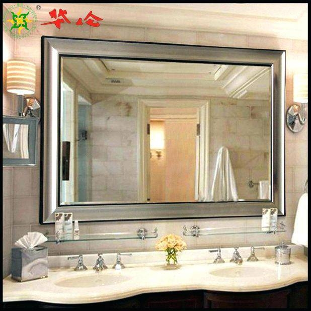 Bathroom Mirror Decorbathroom Enchanting Large Framed Bathroom With Regard To Large Framed Bathroom Wall Mirrors (#6 of 15)