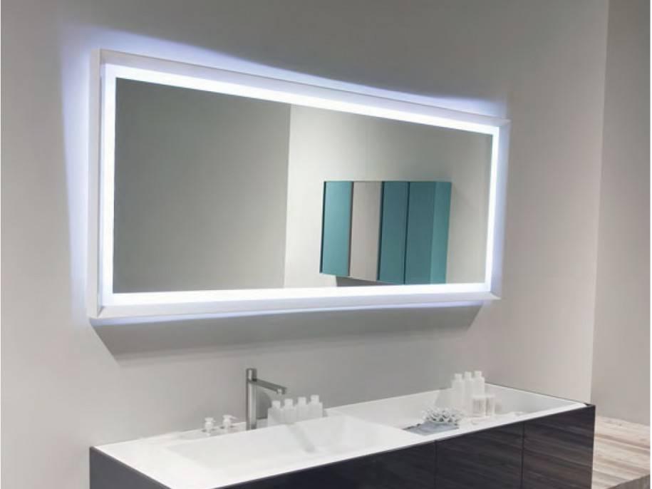 Bathroom Mirror Ideas Plus Wall Mirror With Lights Plus Bevelled Regarding Frame Bathroom Wall Mirrors (View 3 of 15)
