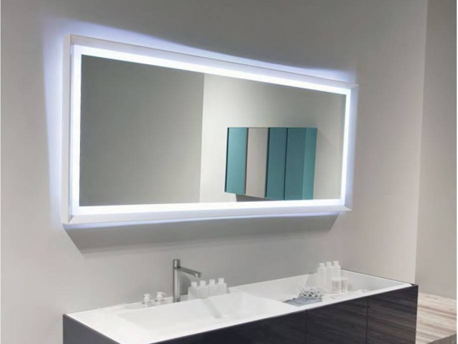 Bathroom Mirror Ideas Plus Wall Mirror With Lights Plus Bevelled Regarding Hanging Wall Mirrors (View 15 of 15)