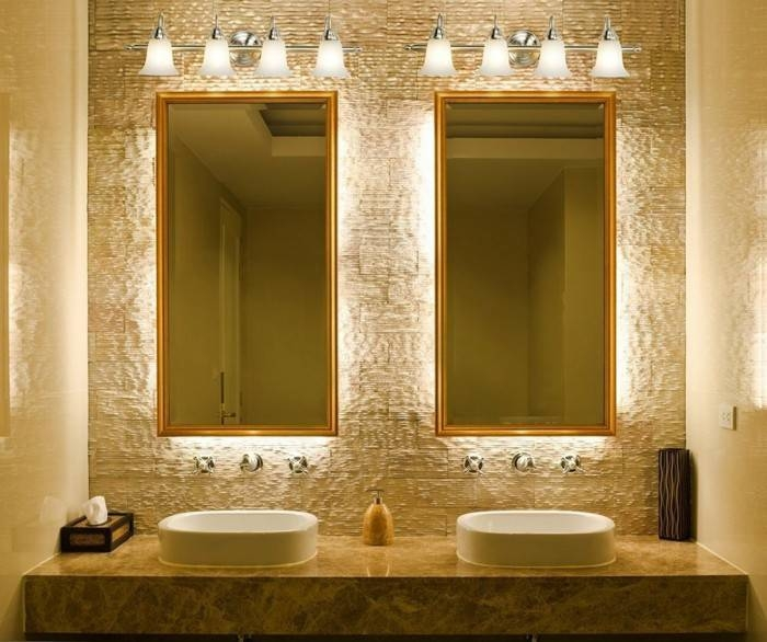 Bathroom Mirror Lighting – The Need For Practical And Meaningful Inside Lights For Bathroom Mirrors (#6 of 15)