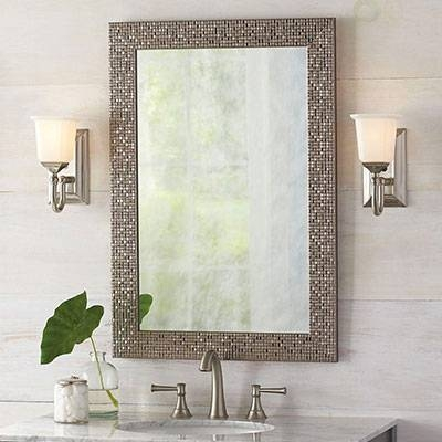 Bathroom Mirrors – Bath – The Home Depot Regarding Vanity Wall Mirrors (#1 of 15)