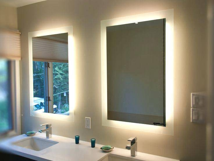 Bathroom Mirrors With Lights Behind Mirror With Led Behind Mirror Inside Bathroom Mirrors With Led Lights (#6 of 15)