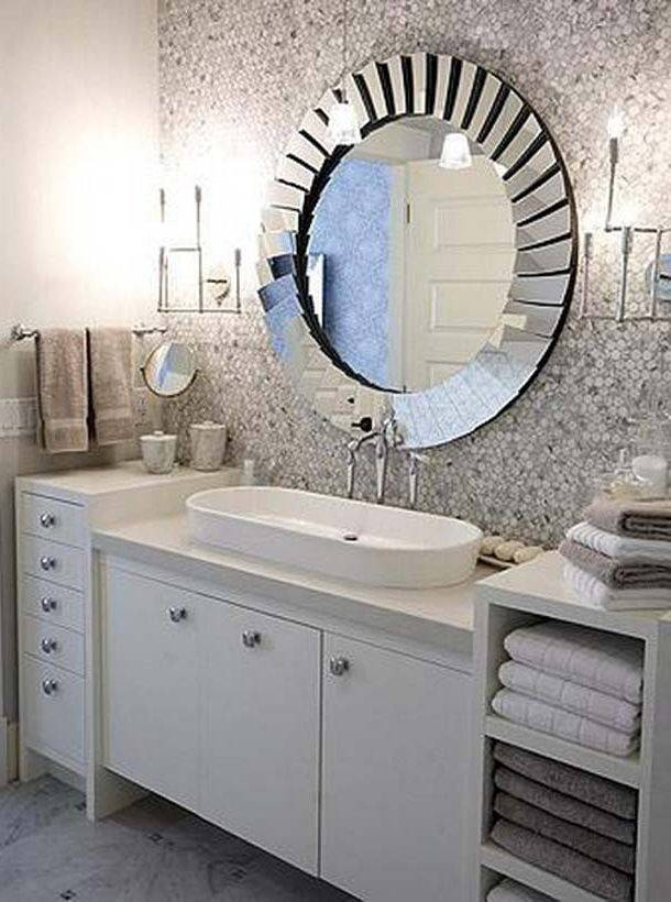 Bathroom Vanity Mirror Ideas Frames Brown Wood Storage Cabinet Pertaining To Bathroom Vanity Mirrors With Medicine Cabinet (#5 of 15)
