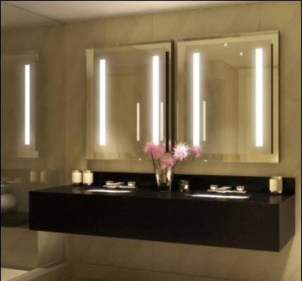 Bathroom Vanity Mirrors With Lights | Home Improvement Ideas Within Vanity Mirrors With Built In Lights (View 7 of 15)