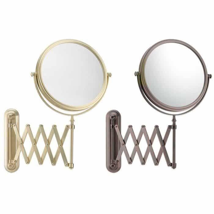 Bathroom Wall Mirror 5X 1X Extension Arm Wall Mirror : Highly Throughout Extension Arm Wall Mirrors (#6 of 15)