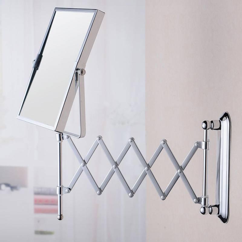Bathroom Wall Mirror Square Folding Mirror Fashion Simple Durable Pertaining To Folding Wall Mirrors (#3 of 15)