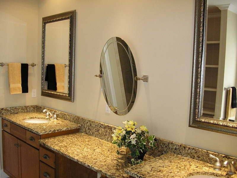 Bathroom Wall Mirror Styles For Sophisticated Private Room — Home Regarding Brushed Nickel Wall Mirror For Bathroom (View 3 of 15)