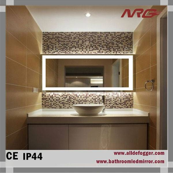 Bathroom Wall Mirror With Led Light For Makeup Bath Shower Mirrors Throughout Bathroom Wall Mirrors With Lights (#6 of 15)