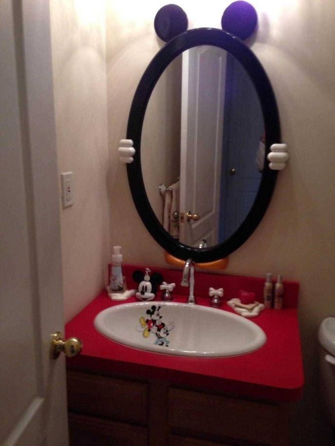 Bathroom : Wall Mounted Mirror S Mickey Mouse Bathroom Design Regarding Mickey Mouse Wall Mirrors (View 5 of 15)