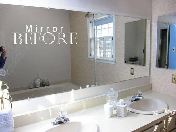 Bathrooms Design : Frameless Bathroom Wall Mirrors Mirror Hanging Intended For Frameless Bathroom Wall Mirrors (#9 of 15)