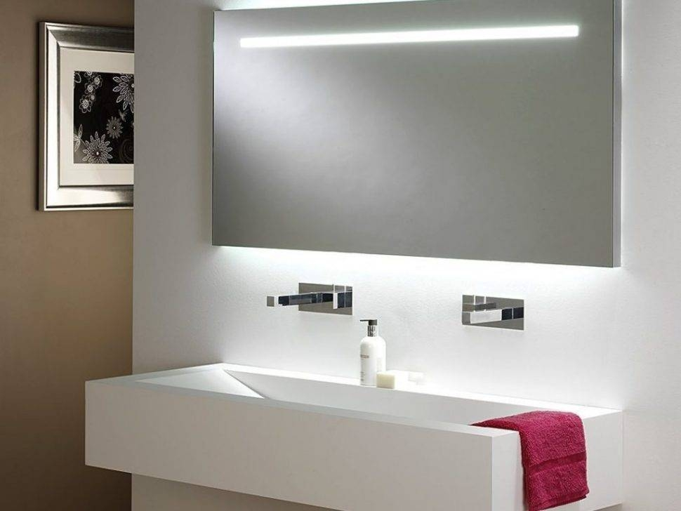 Bathrooms Design : Led Bathroom Mirror Modern Mirrors Rectangle With Regard To Large Lighted Bathroom Wall Mirrors (#8 of 15)
