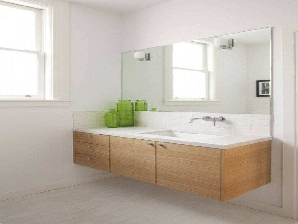 Bathrooms Design : The Best Frameless Large Wall Mirrors Bathroom With Regard To Large Wall Mirrors Without Frame (#7 of 15)