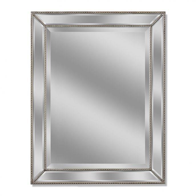 Bathrooms Design : Wood Framed Bathroom Mirrors Vintage Bathroom Throughout Modern Framed Mirrors (#3 of 15)