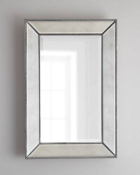 Beaded Wall Mirror With Glass Wall Mirrors (#1 of 15)
