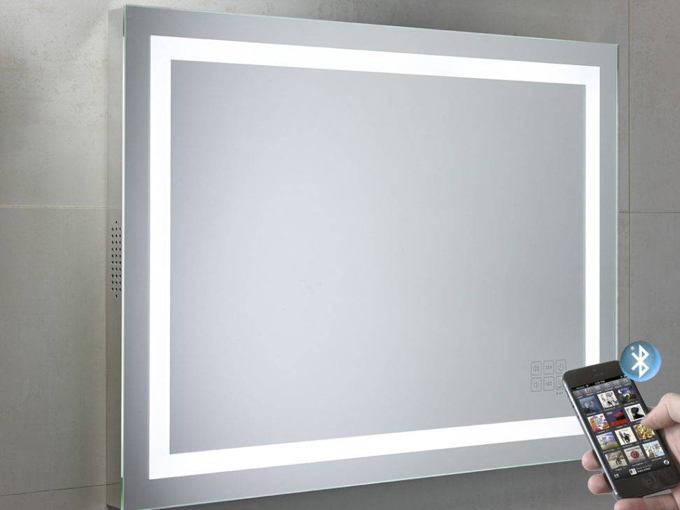 Beat Illuminated Bluetooth Bathroom Mirror With Speakers Lighted Intended For Illuminated Wall Mirrors (#6 of 15)