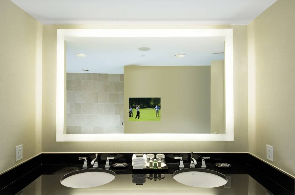Beat Illuminated Bluetooth Bathroom Mirror With Speakers Lighted Within Illuminated Wall Mirrors (#7 of 15)