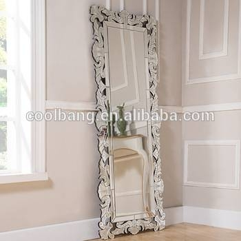 Beautiful And Clear Narrow Full Length With Antique Etched Wall Throughout Floor Length Wall Mirrors (#2 of 15)