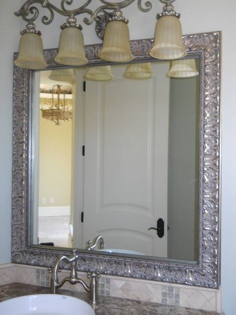 Beautiful And Elegant Mirror Frame Kits – Traditional – Bathroom For Frames Mirrors (#2 of 15)