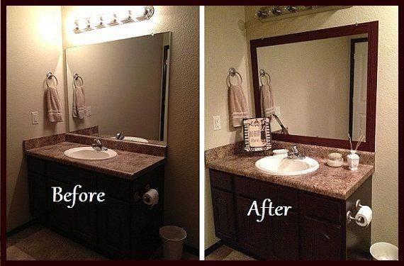 Beautiful Design Ideas Stick On Bathroom Mirrors 17 With Frames Regarding Frames For Bathroom Wall Mirrors (#5 of 15)