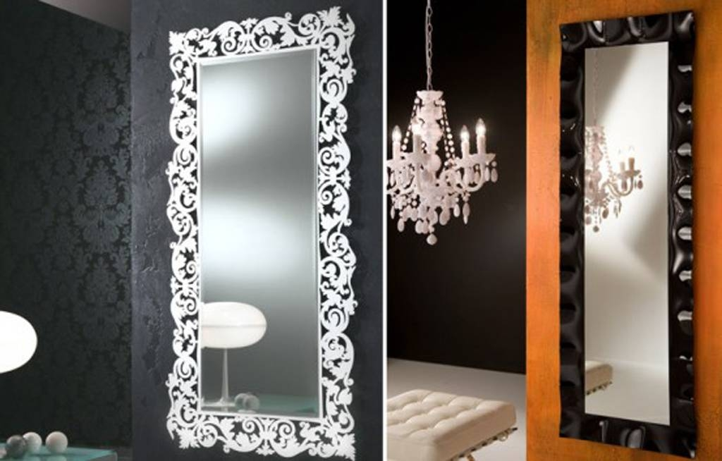 Bedroom : Alluring Mirror Wall Decor Benefits For Your House Throughout Long Wall Mirrors For Bedroom (#1 of 15)