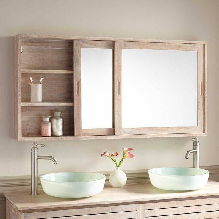 Popular Photo of Bathroom Cabinets Mirrors