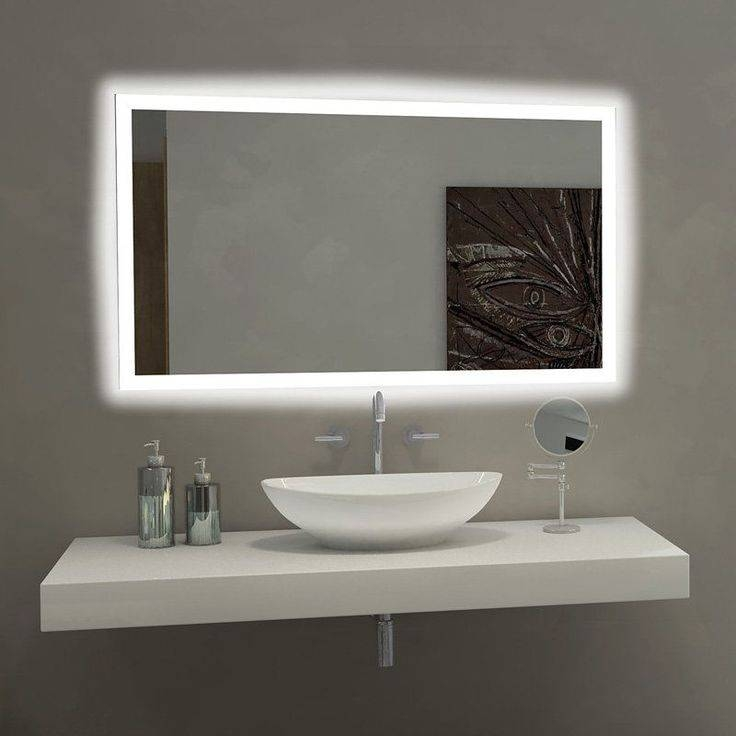 Best 25+ Bathroom Mirror Lights Ideas On Pinterest | Bathroom For Bathroom Mirrors With Led Lights (#8 of 15)