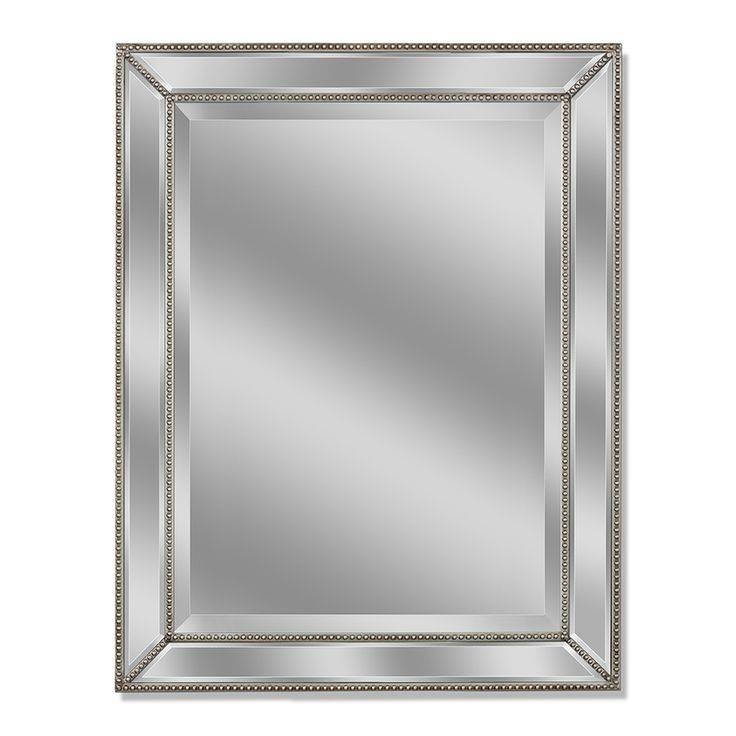 Best 25+ Beveled Mirror Ideas On Pinterest | Black And Silver Pertaining To Black Rectangle Wall Mirrors (#2 of 15)