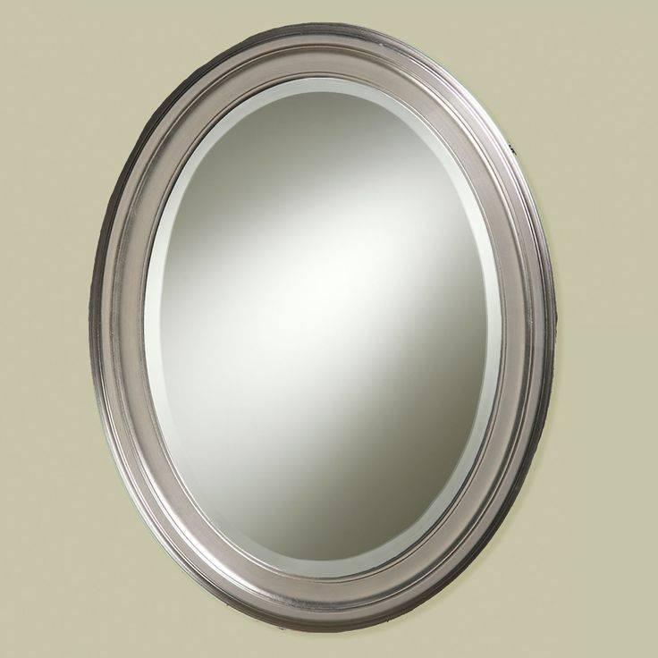 Brushed nickel wall mirror bathroom
