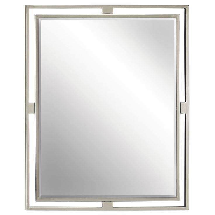 Best 25+ Brushed Nickel Mirror Ideas On Pinterest | Brushed Nickel With Regard To Brushed Nickel Wall Mirror For Bathroom (#7 of 15)