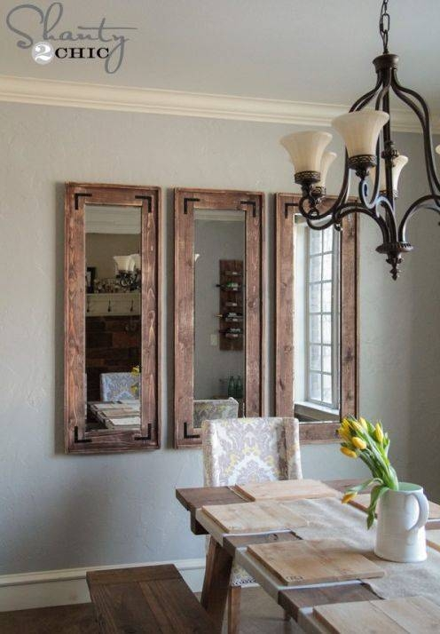 Best 25+ Cheap Wall Mirrors Ideas On Pinterest | Dining Room Within Diy Large Wall Mirror (#7 of 15)