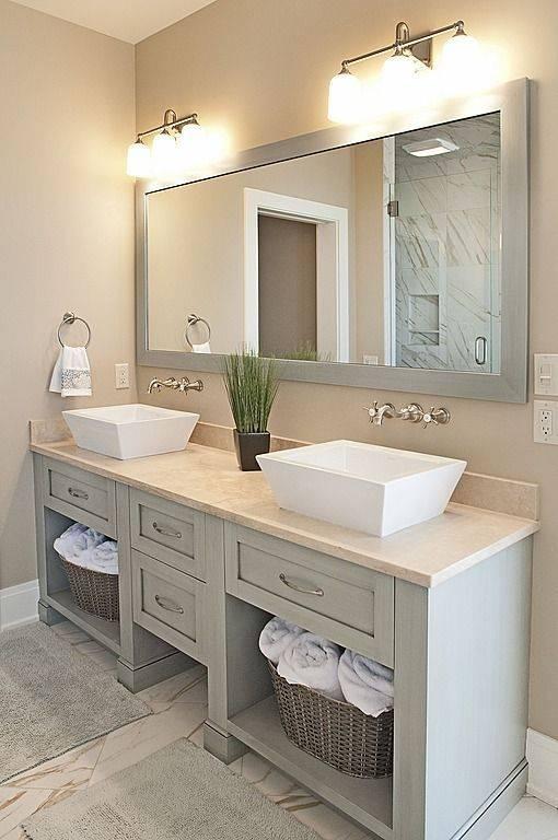 Best 25+ Double Sink Bathroom Ideas On Pinterest   Double Sinks Intended For Double Vanity Bathroom Mirrors (#6 of 15)