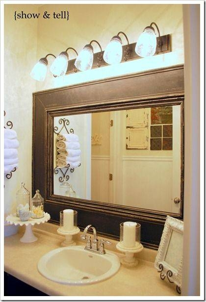 Best 25+ Frame Bathroom Mirrors Ideas On Pinterest | Framed Throughout Frames For Wall Mirrors (#2 of 15)