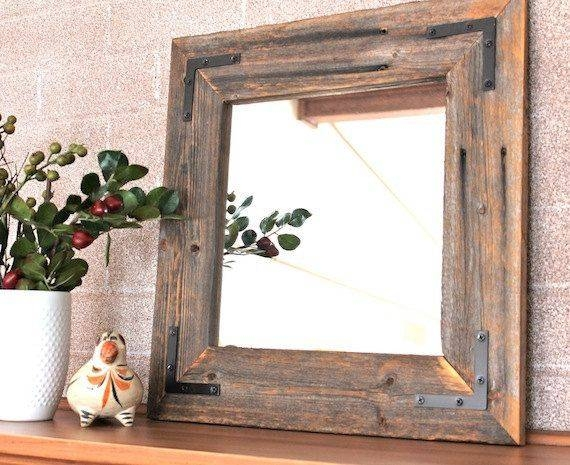 Popular Photo of Decorative Wooden Mirrors