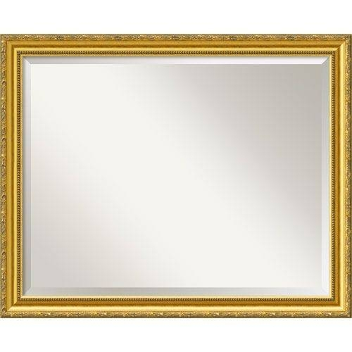 The Gatsby Wall Mirror With Platinum Gold Frame The Gatsby