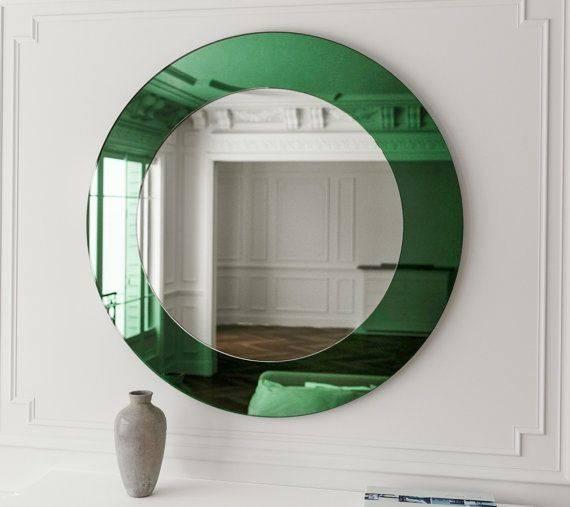 Best 25+ Green Frameless Mirrors Ideas On Pinterest | Frameless Intended For Green Wall Mirrors (View 4 of 15)