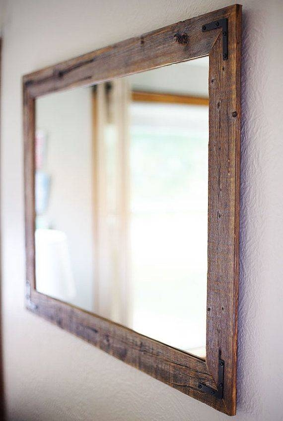 Large mirror with mirror frame