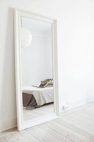 Best 25+ Large White Mirror Ideas On Pinterest | White Mirror Inside Large White Wall Mirrors (#6 of 15)
