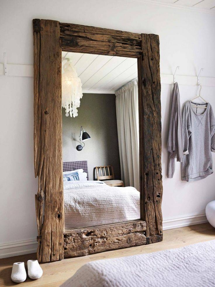 Best 25+ Large Wooden Mirror Ideas On Pinterest | Rustic Wood Intended For Vintage Wood Mirrors (#7 of 15)