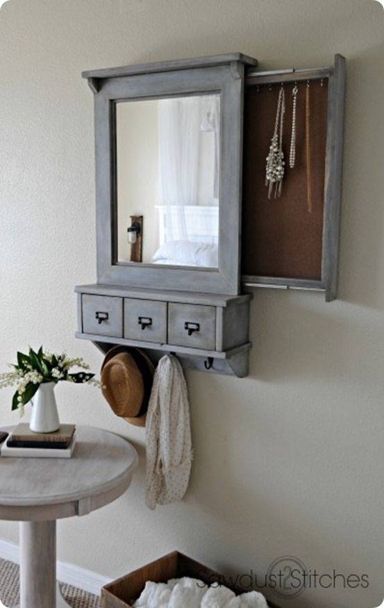 Best 25+ Mirror Jewelry Storage Ideas On Pinterest | Jewelry Intended For Wall Mirrors With Storages (#4 of 15)