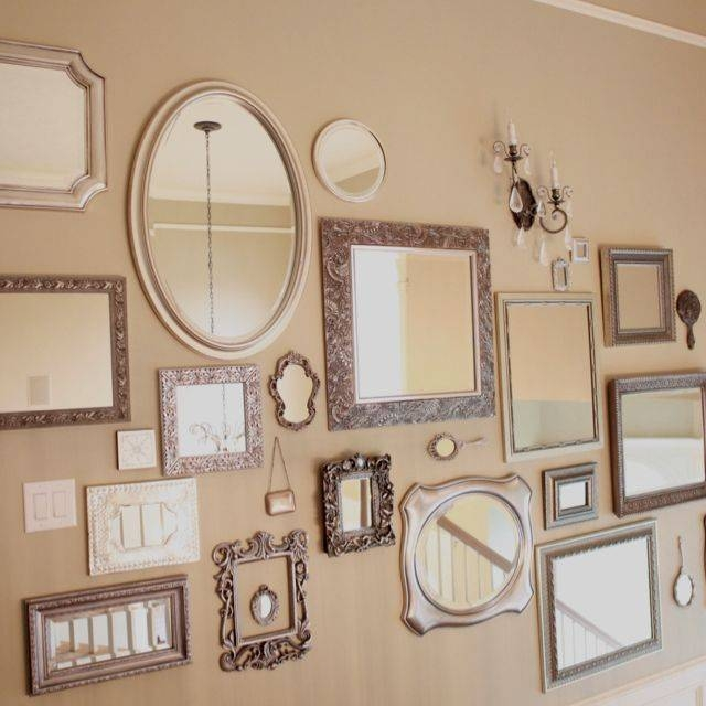 Best 25+ Mirror Wall Collage Ideas On Pinterest | Cottage Framed With Regard To Black Frame Wall Mirrors (#5 of 15)
