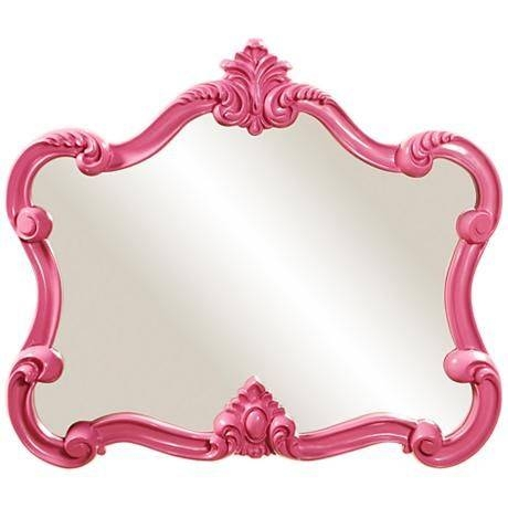 Best 25+ Pink Wall Mirrors Ideas On Pinterest | Pink Wall Shelf In Girls Pink Wall Mirrors (#6 of 15)