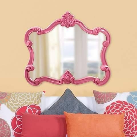 Best 25+ Pink Wall Mirrors Ideas On Pinterest | Pink Wall Shelf Pertaining To Pink Wall Mirrors (#5 of 15)