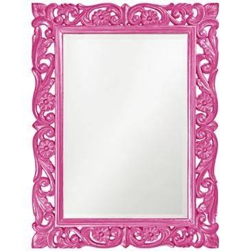 Best 25+ Pink Wall Mirrors Ideas On Pinterest | Pink Wall Shelf Pertaining To Pink Wall Mirrors (#4 of 15)