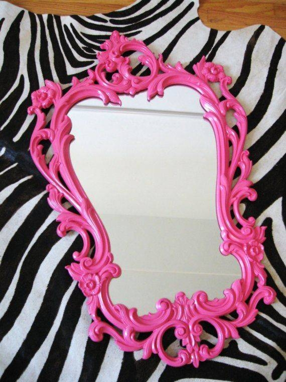 Best 25+ Pink Wall Mirrors Ideas On Pinterest | Pink Wall Shelf Within Girls Wall Mirrors (#6 of 15)