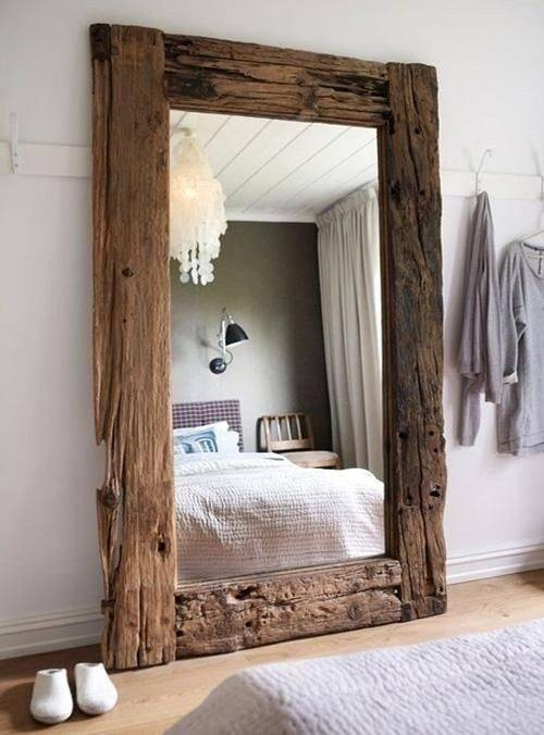 Best 25+ Reclaimed Wood Mirror Ideas On Pinterest | Pallet Mirror Intended For Large Wall Mirrors With Wood Frame (View 4 of 15)