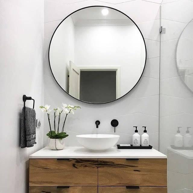 Best 25+ Round Bathroom Mirror Ideas On Pinterest   Bathroom With Round Mirrors For Bathroom (View 2 of 15)