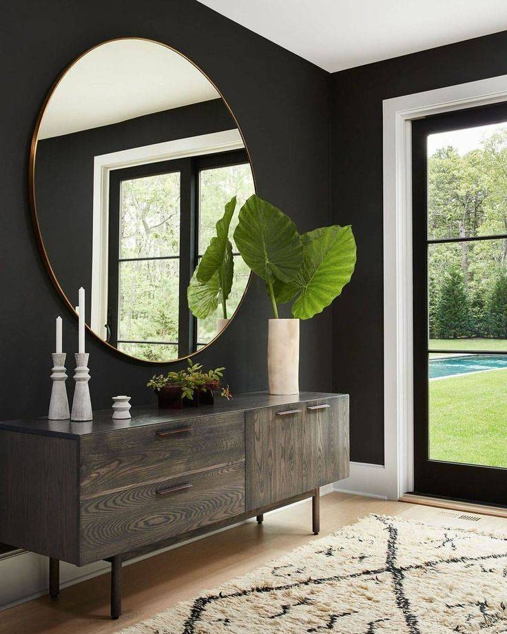 Best 25+ Round Mirrors Ideas On Pinterest | Decorative Shelves, Au Pertaining To Large Black Wall Mirrors (#6 of 15)